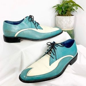 Stacy Adams Turquoise Wingtip VTG Shoes
